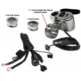 EKLIPES™ Chrome Cobra Ultimate Motorcycle USB Charging System