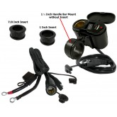 EKLIPES™ Black Cobra Ultimate Motorcycle USB Charging System