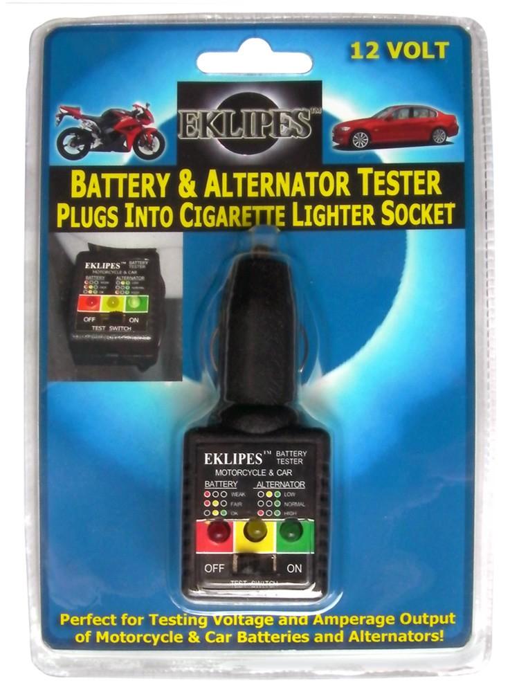 12 Volt Battery Tester Review : Motorcycle car volt battery alternator tester